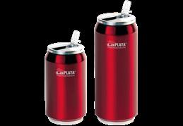 LaPLAYA Cool Can - Nerez 0,5 litra červená termoplechovka