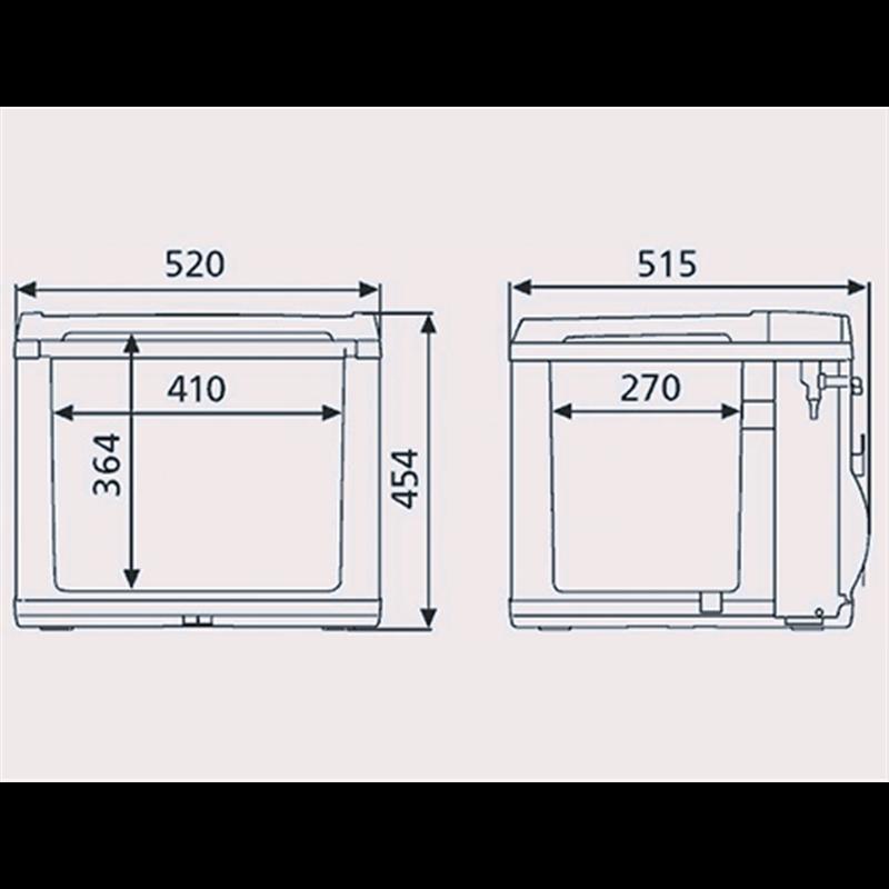 waeco mobicool b40 ac dc hybrid 230v 12v. Black Bedroom Furniture Sets. Home Design Ideas